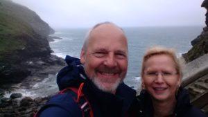 Doris und Dominic in Tintagel